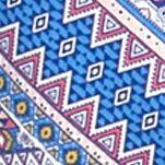 Women: Tees Sale: Blue Kim Rogers Long Sleeve Tribal Shirt