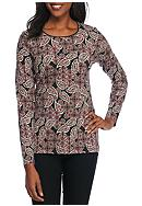 Kim Rogers® Winter Paisley Top