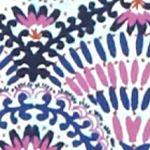 Kim Rogers Women Sale: Violet/Navy Kim Rogers Folk Spiral Knit Top