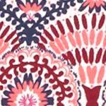 Kim Rogers Women Sale: Pink/Navy Kim Rogers Folk Spiral Knit Top