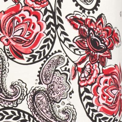 Kim Rogers Women Sale: White Kim Rogers 3/4 Sleeve Split Neck Floral Print Knit Top