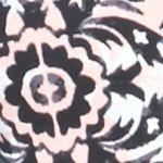 Kim Rogers Women Sale: Black/Pink Kim Rogers Split Neck Zoe Tile Knit Top