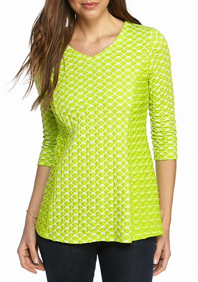 Kim Rogers® V Neck Textured Top