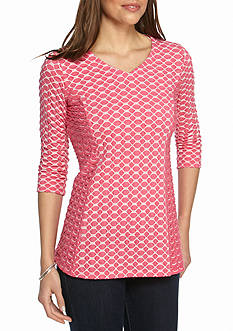 Kim Rogers V Neck Textured Top