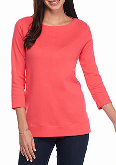 Kim Rogers Seam Front Boat Neck Knit Top