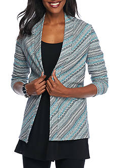 Kim Rogers Long Sleeve Striped Cardigan