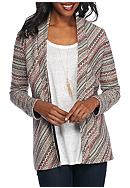 Kim Rogers® Long Sleeve Striped Cardigan