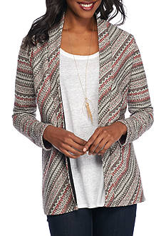 Kim Rogers Long Sleeve Striped Cardigan