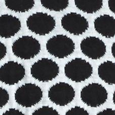Knit Tops for Women: White/Black Kim Rogers Long Sleeve Jacquard Dot Cardigan