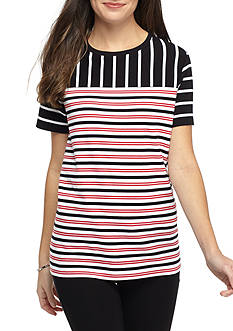 Kim Rogers Striped Knit Tee