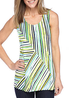 Kim Rogers Sleeveless Print Swing Tank