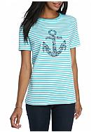 Kim Rogers® Short Sleeve Graphic Nautical
