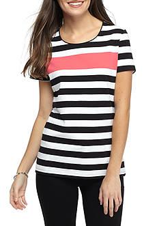 Kim Rogers Striped Knit Tee