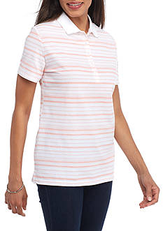 Kim Rogers Polo Sketch Stripe Knit