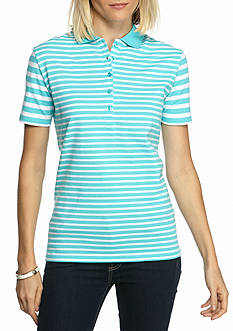 Kim Rogers Short Sleeve Stripe Polo