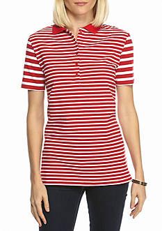 Kim Rogers Short Sleeve Stripe Polo