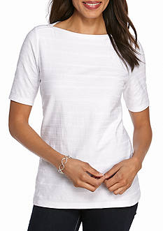 Kim Rogers Short Sleeve Solid Boat Top