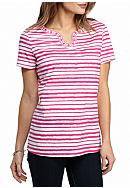 Kim Rogers® Embellished Stripe Top