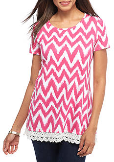 Kim Rogers Swing Knit Top with Back Pleat