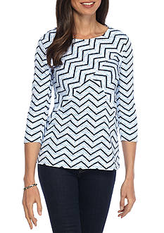 Kim Rogers Criss Cross Knit Top