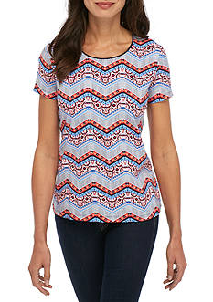 Kim Rogers Short Sleeve Chevron Tee