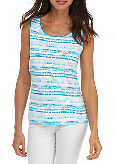 Kim Rogers Scoop Neck Dye Stripe Tank