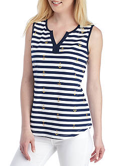 Kim Rogers Striped Anchor Tank