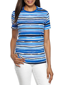 Kim Rogers Short Sleeve Crew Beach Top