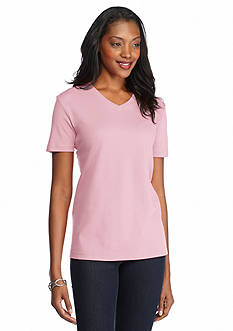 Kim Rogers® Solid V Neck Top