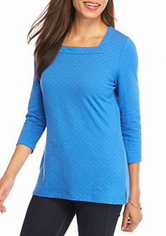 Kim Rogers Square Neck Textured Top