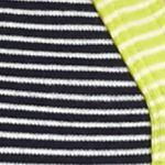 Kim Rogers Women Sale: Navy/Ivory/Lime Kim Rogers Henley Mix Stripe Knit Top