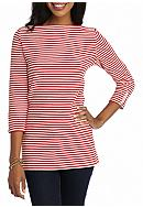 Kim Rogers® Three-Quarter Sleeve Boat Neck