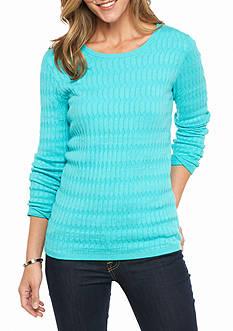Kim Rogers Oblong Jacquard Crew Neck Sweater