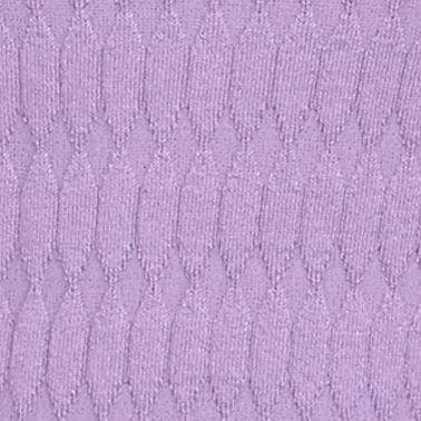 Pink Sweaters for Women: Purple Kim Rogers Oblong Jacquard Crew Neck Sweater