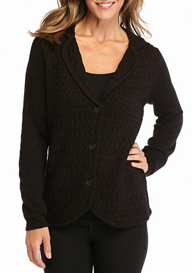 Kim Rogers® Long Sleeve Button Front Cardigan