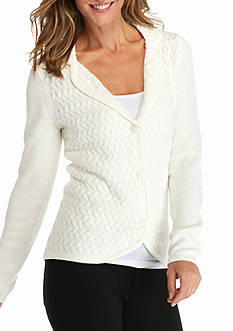 Kim Rogers Long Sleeve Button Front Cardigan