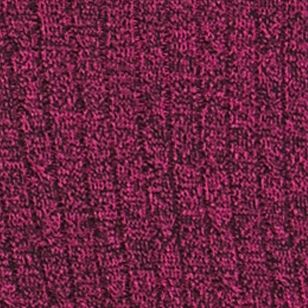 Kim Rogers Sweaters: Pink/Black Kim Rogers Cable Crew Two Color Marled Top