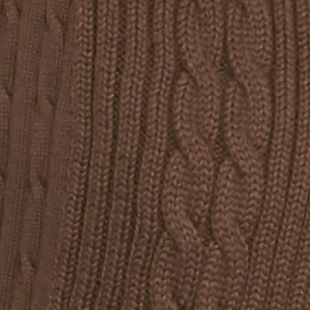 Kim Rogers Sweaters: Ranch Brown Kim Rogers Open Cardigan Cable Solid Top