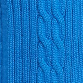 Kim Rogers Sweaters: Boggs Blue Kim Rogers Open Cardigan Cable Solid Top