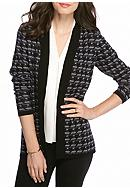 Kim Rogers® Houndstooth Cardigan