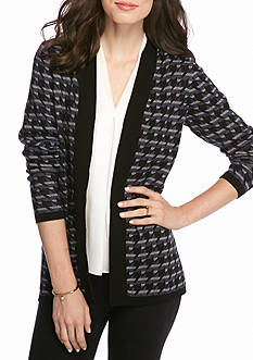 Kim Rogers Houndstooth Cardigan