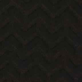 Kim Rogers Sweaters: True Black Kim Rogers Long Sleeve Chevron Jacquard Crew Neck Sweater