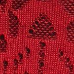 Kim Rogers Sweaters: Red/Black Kim Rogers Jacquard Cowl Neck Poncho