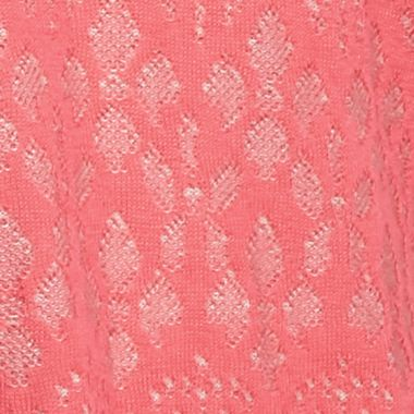 Kim Rogers Sweaters: Pink Sorbet/True Stone Kim Rogers Jacquard Cowl Neck Poncho