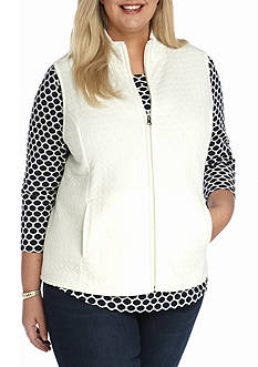 Kim Rogers Plus Size Circle Quilted Vest