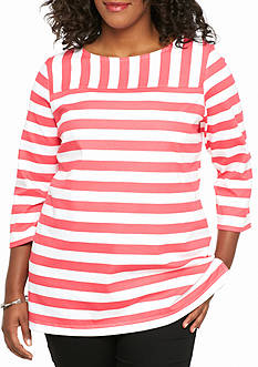 Kim Rogers Plus Size Stripe Tunic