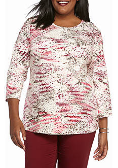 Kim Rogers 3/4 Sleeve Crew Knit Top