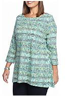 Kim Rogers® Women's Plus Three Quarter Sleeve