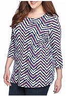 Kim Rogers® Plus Size Three-Quarter Sleeve