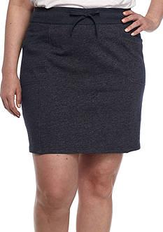 Kim Rogers Plus Size Knit Drawstring Skort